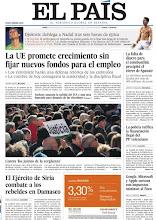 Photo: Las claves de la nueva cumbre de la UE, los combates entre el Ejército y los rebeldes en Damasco y la manifestación en apoyo al juez Garzón, en nuestra portada del lunes 30 http://www.elpais.com/static/misc/portada20120130.pdf