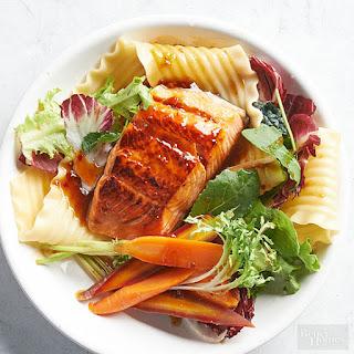 Zesty Salmon Pasta Salad.