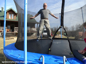 Photo: Ja na trampolinie. Ma nośność do 200 kg