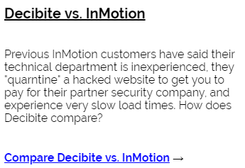Decibite vs InMotion
