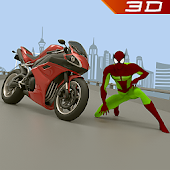 Spider 3D Hero Vegas City Ride - Moto Racing Fight