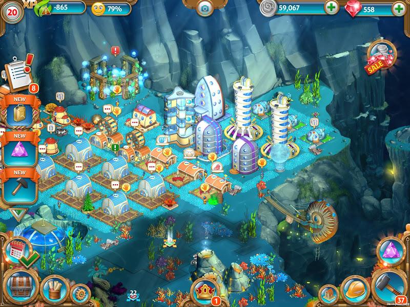 Aquapolis. Free city building! Screenshot 6