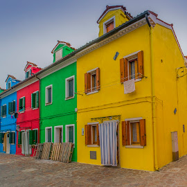 Burano by Yordan Mihov - City,  Street & Park  Neighborhoods ( holiday, colorful, venice, burano, house, italy )