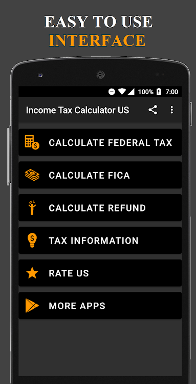 Income Tax Calculator USA – (Android Apps) — AppAgg