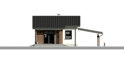 Dom przy Bukowej 35 - Elewacja tylna