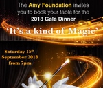 Amy Foundation Annual Gala Dinner - Saturday, 15 September 2018. : Century City Conference Centre