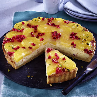Orange and Pomegranate Tart