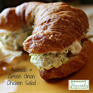 Avocado & Green Onion Chicken Salad.