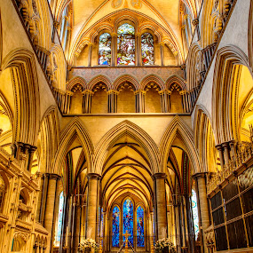 Salisbury Cathedral altar 2 by Zoot The-Tog - Buildings & Architecture Places of Worship ( altar, church, perspective, holy, cathedral, symmetry )