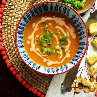 Vegan Homestyle Tortilla Soup With Spicy Cashew Maple Drizzle
