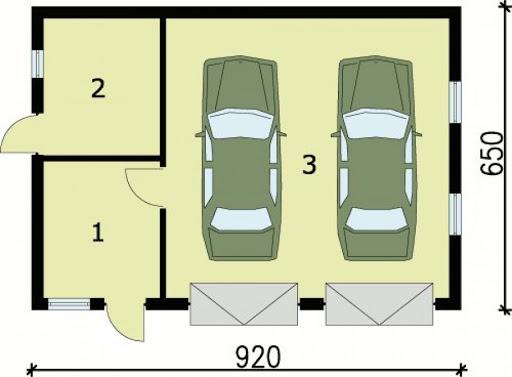 G84 - Rzut garażu