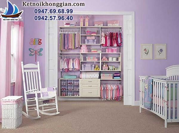 thiết kế tủ đồ cho bé bắt mắt