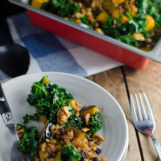 Wheat Berry Salad with Squash, Kale and Walnuts