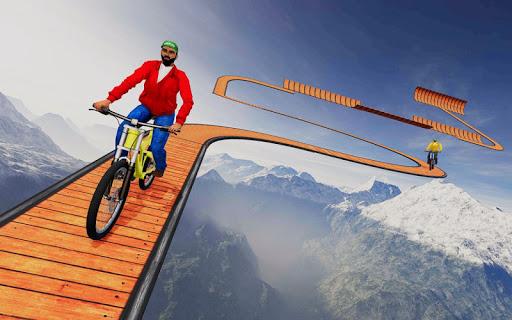 Code Triche cascade bicyclette des pistes: gratuit cycle Jeux mod apk screenshots 3