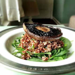 Parmesan & Fennel Quinoa With A Roasted Portobello