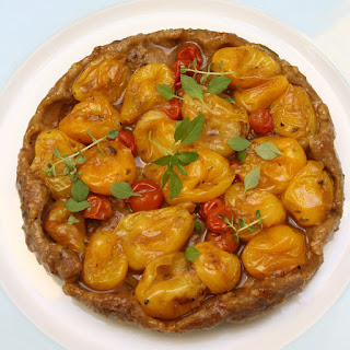 Yellow Cherry Tomato Tarte Tatin with Fresh Herbs