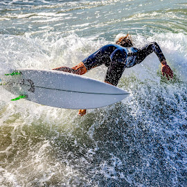 Bottoms Up by Mark Ritter - Sports & Fitness Surfing ( surfer, surf, waves, surfing, oceanside, california )