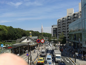 Photo: Looking over Harajuku Station, back towards Shinjuku and the building that looks like the Empire State Building.