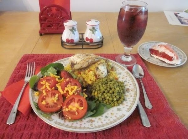 Sour Cream & Herbs Chicken Over Saffron Rice Recipe