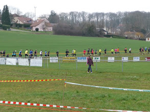 Photo: la course élite s'égrène ...