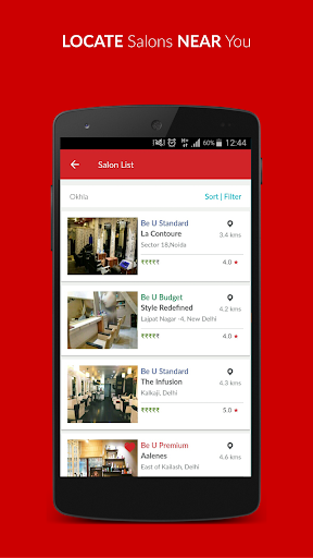 Be U Salons Hair-Beauty Deals In Delhi & Bangalore 1.1.4.1 screenshots 5