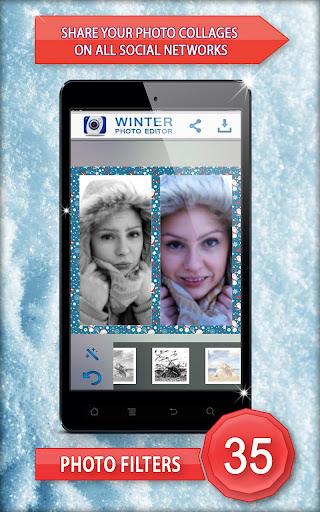 玩免費攝影APP|下載冬天的照片编辑器 app不用錢|硬是要APP