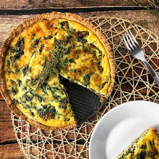 Spinach Quiche with Whole-Grain Crust.