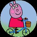 Colorear Pepa pig icon