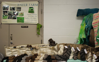 Photo: Jester Farm booth at Delmarva Wool & Fiber Expo 2015 (Fall) | Photograph Copyright Robert J Banach #oceancitycool