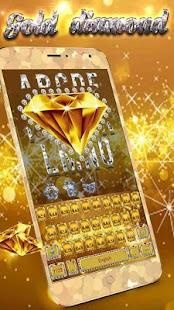 Gold Diamond sparkling Keyboard - náhled
