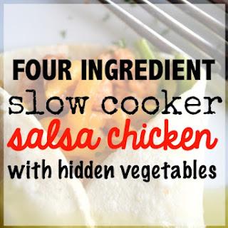 Slow Cooker Salsa Chicken with Hidden Cauliflower