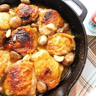 Skillet Chicken, Mushrooms & Garlic Recipe
