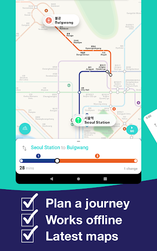 Seoul Metro Subway Map and Route Planner screenshot 15