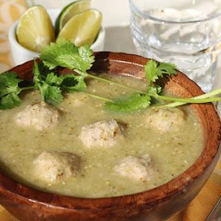 Tomatillo Albondigas Soup