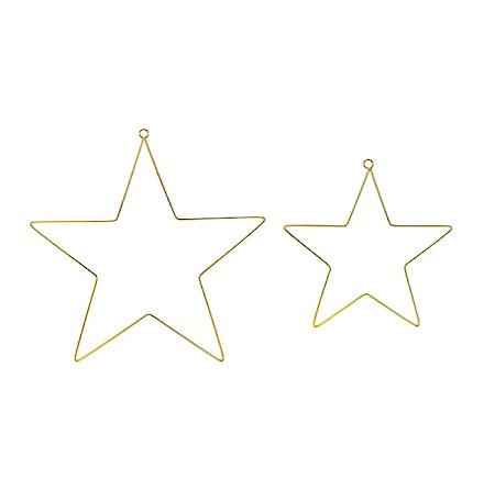 Dekorationsstjärnor i metall - guld