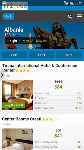 Hotels Albania by tritogo