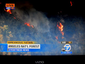 Photo: News coverage of Williams Fire 2012