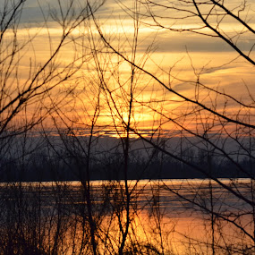 Sunset on the Mississippi by Sidney Vowell - Novices Only Landscapes