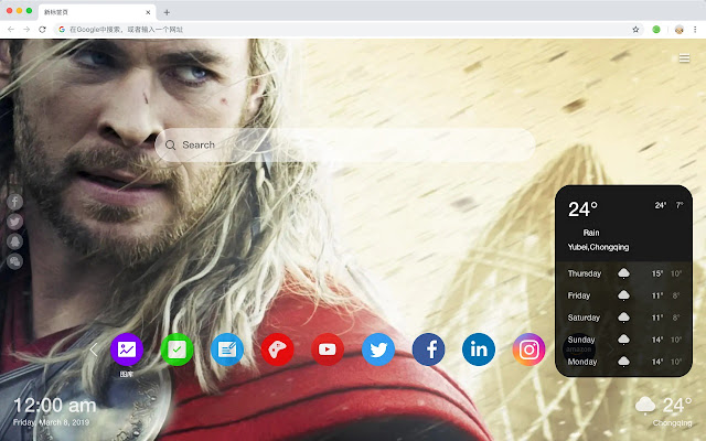 Thor Popular Movies New Tabs HD Themes