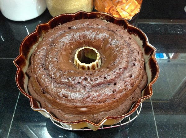 Batter will be thick. Pour into Bundt pan. Bake 40-50 minutes. Mine usually takes...