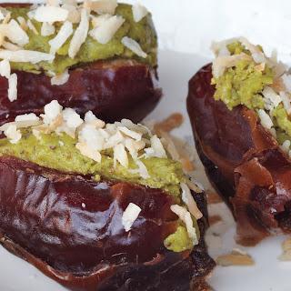 Pistachio-Stuffed Dates with Coconut