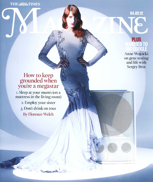 Photo: Florence Welch in Roberto Cavalli on the cover of The Times Magazine