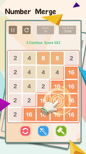 Télécharger Gratuit NumTrip - 2048 number merge block puzzle game APK MOD (Astuce) screenshots 1