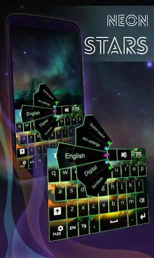 Neon Stars Keyboard