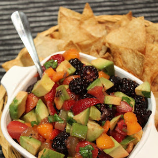 Avocado Fruit Salsa with Cinnamon Tortilla Chips