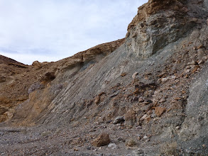 Photo: Mosaic Canyon. The shattered contact.