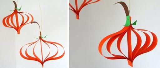 Citrouille papier Halloween