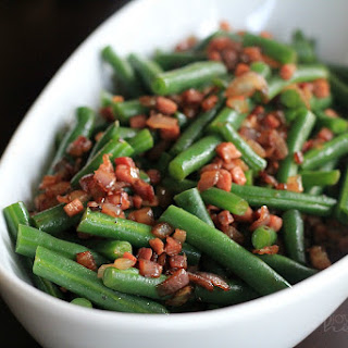 Green Beans with Pancetta and Red Onions