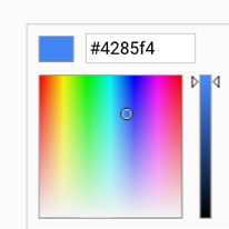 Color gradient picker