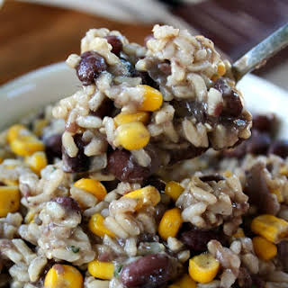 Cilantro Lime Rice with Black Beans and Corn.